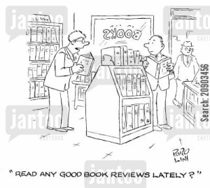 'Read any good book reviews lately?'